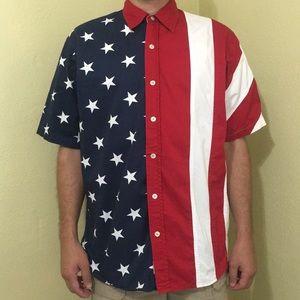 Redhead American flag shirt
